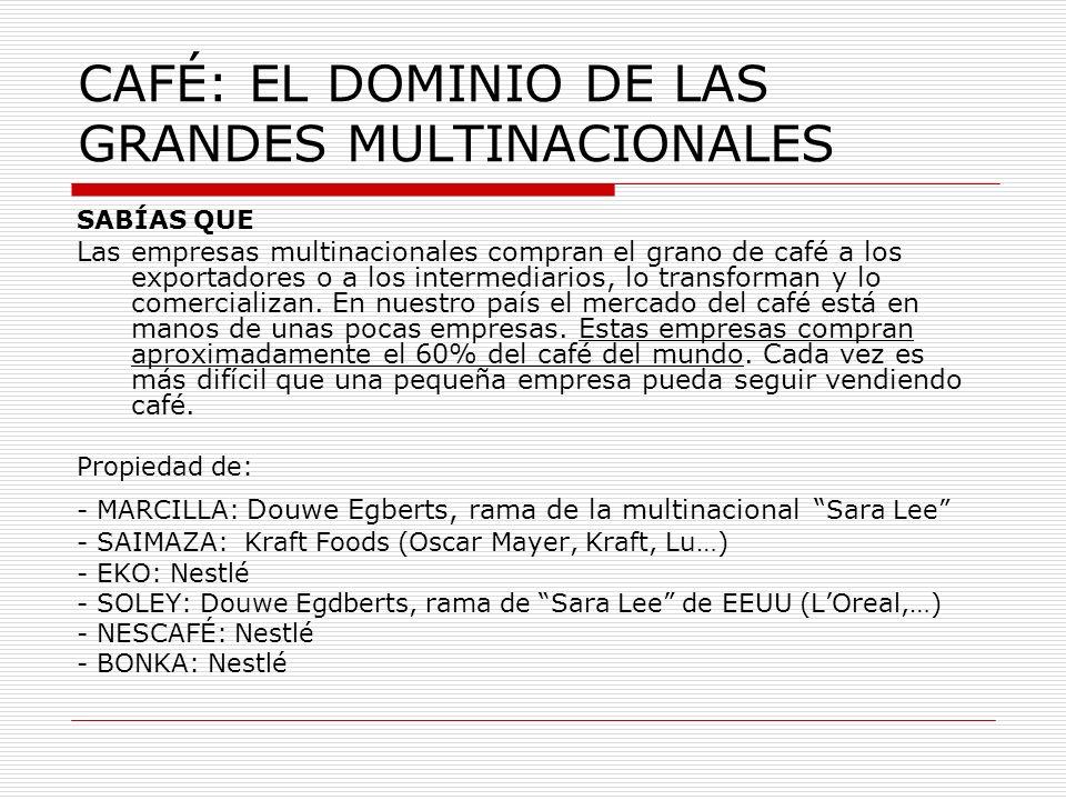 CAFÉ: EL DOMINIO DE LAS GRANDES MULTINACIONALES