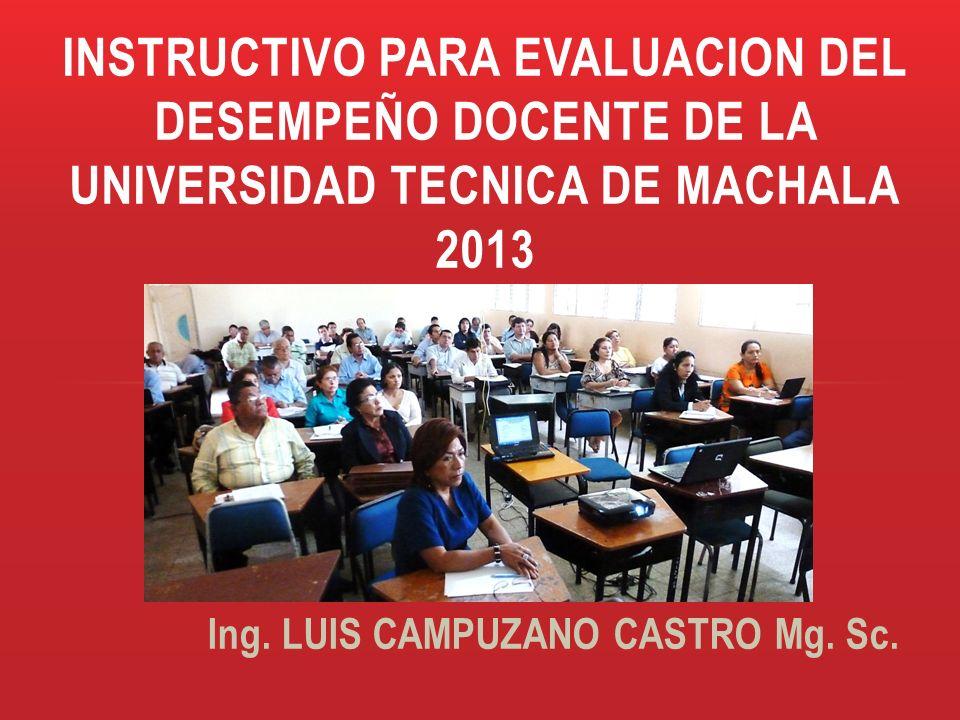 Ing. LUIS CAMPUZANO CASTRO Mg. Sc.