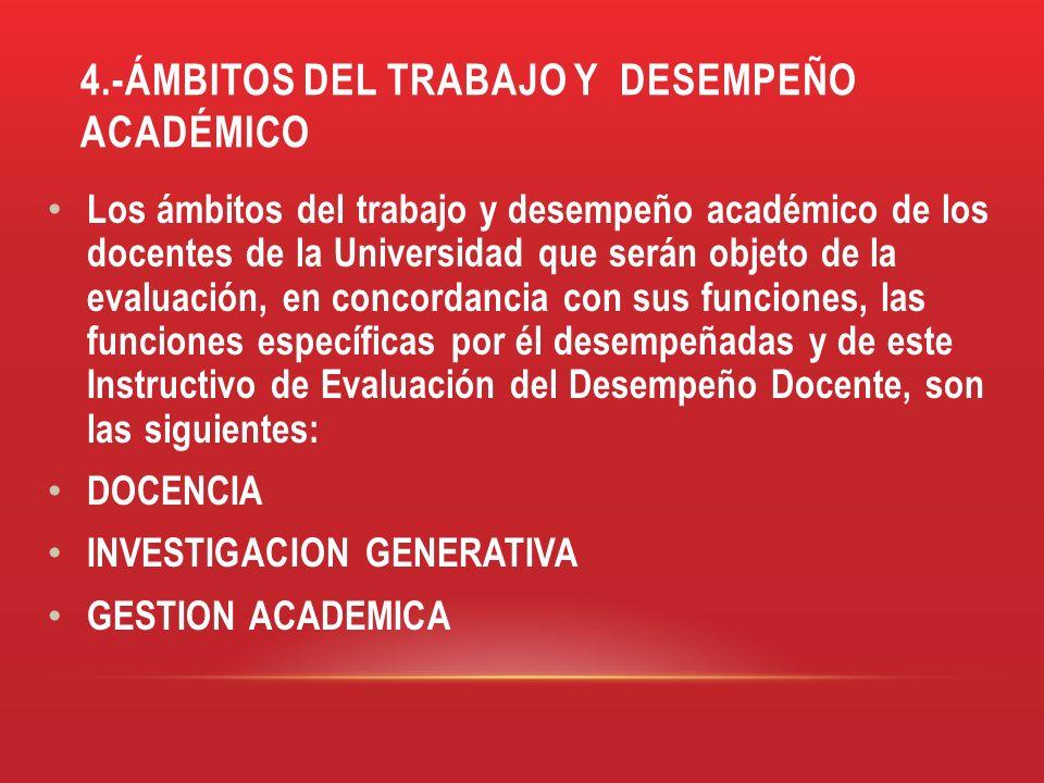4.-ÁMBITOS DEL TRABAJO Y DESEMPEÑO ACADÉMICO