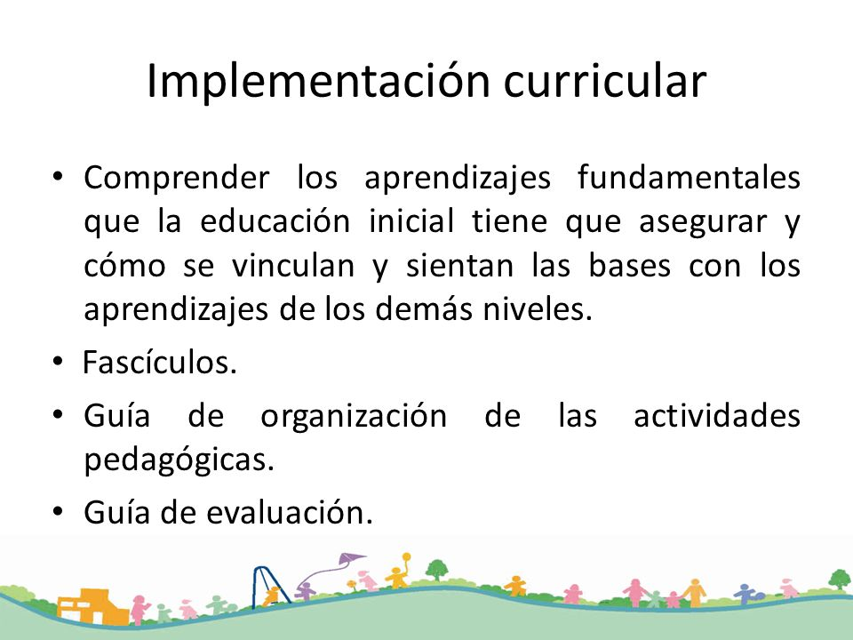 Implementación curricular