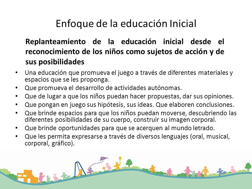 Enfoque de la educación Inicial