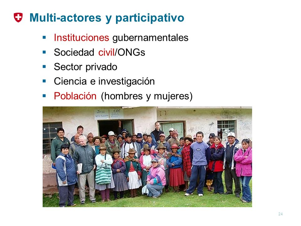 Multi-actores y participativo