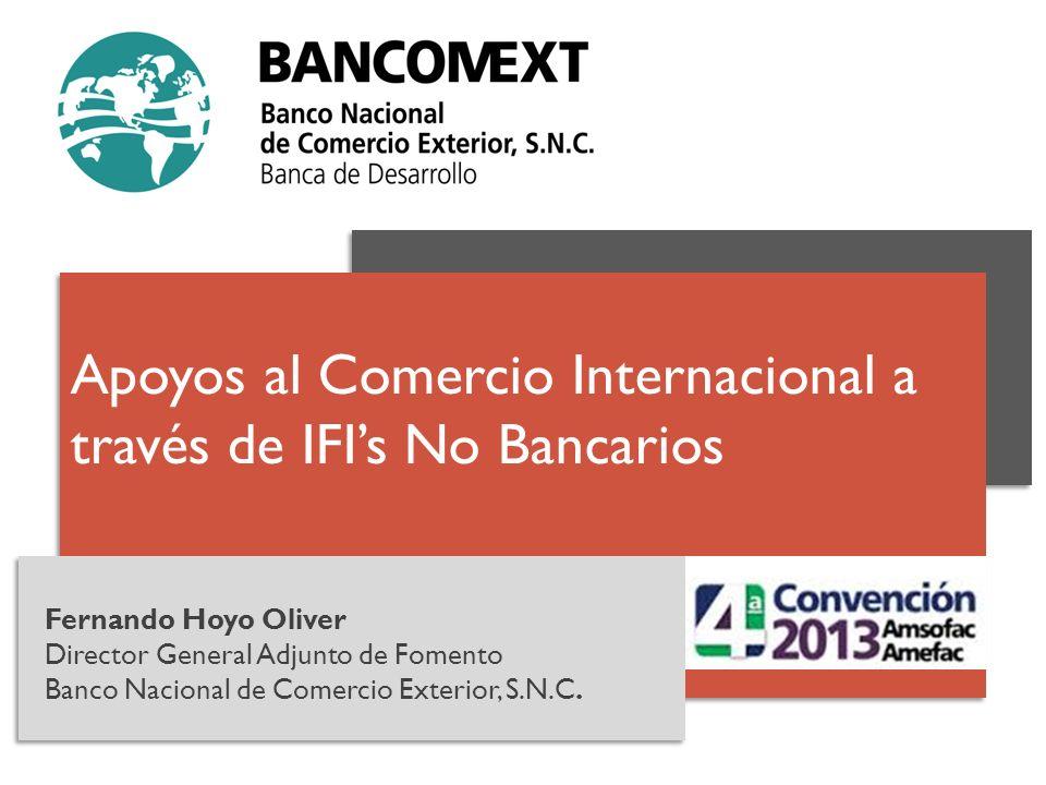 Apoyos al Comercio Internacional a través de IFI's No Bancarios