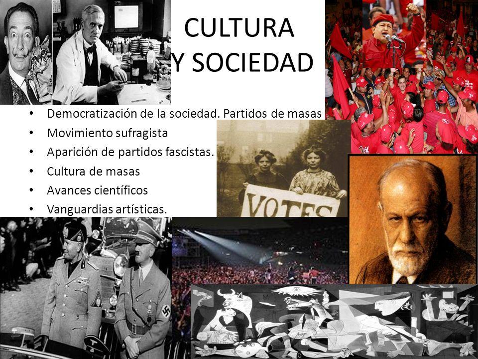 CULTURA Y SOCIEDAD Democratización de la sociedad. Partidos de masas