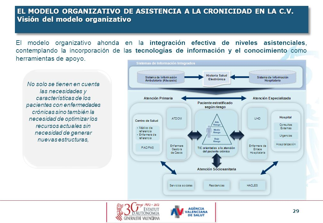 EL MODELO ORGANIZATIVO DE ASISTENCIA A LA CRONICIDAD EN LA C. V