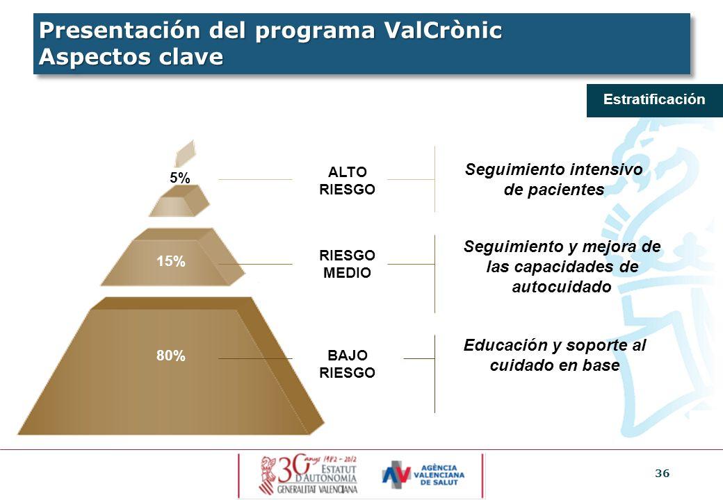 Presentación del programa ValCrònic Aspectos clave