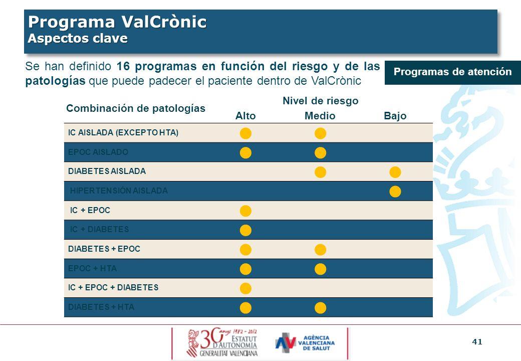 Programa ValCrònic Aspectos clave