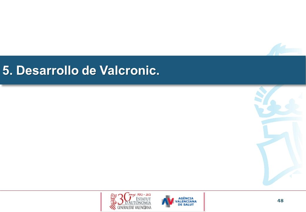 5. Desarrollo de Valcronic.