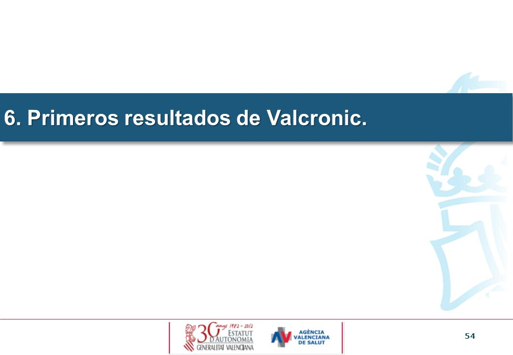 6. Primeros resultados de Valcronic.