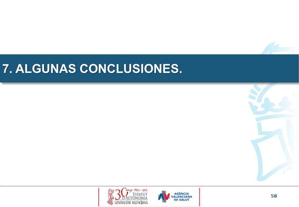 7. ALGUNAS CONCLUSIONES. 58