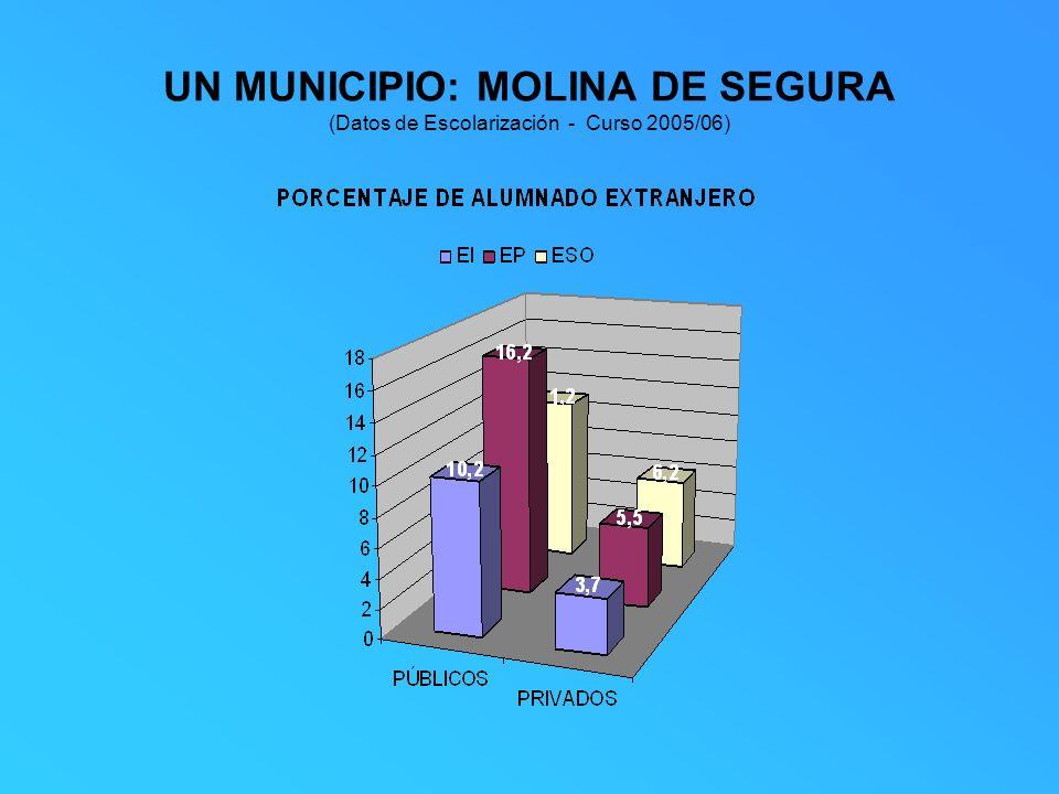 UN MUNICIPIO: MOLINA DE SEGURA (Datos de Escolarización - Curso 2005/06)