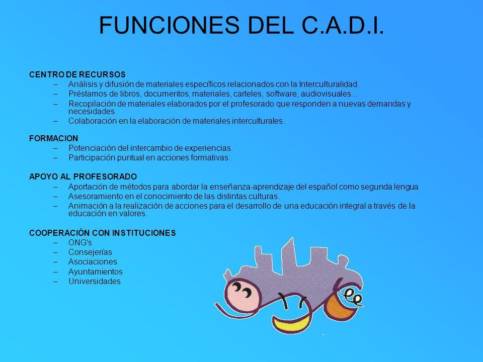 FUNCIONES DEL C.A.D.I. CENTRO DE RECURSOS