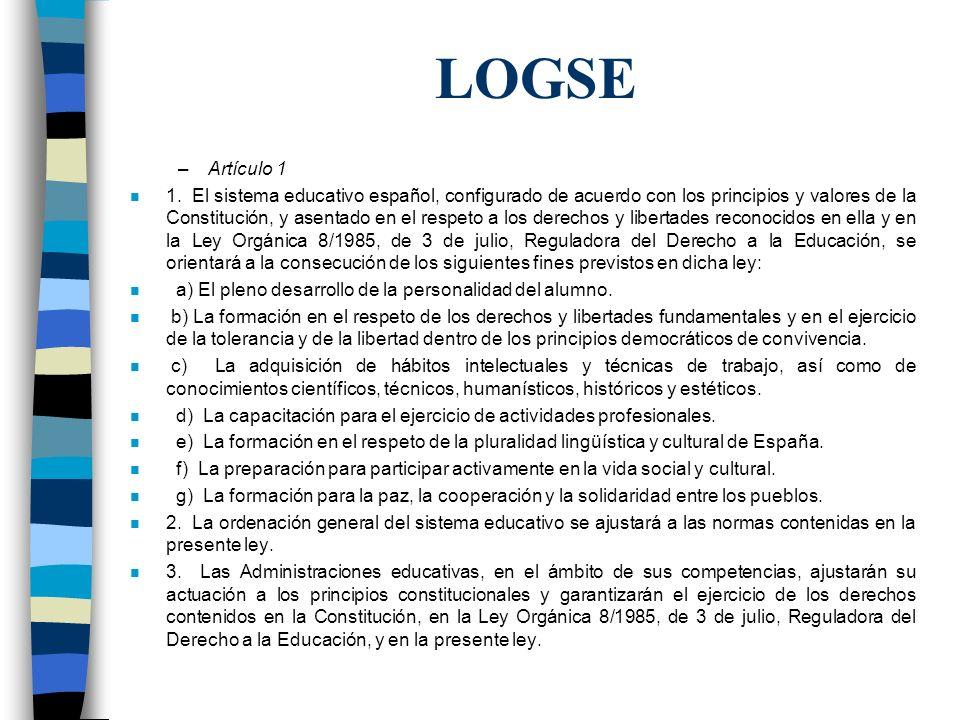 LOGSE Artículo 1.