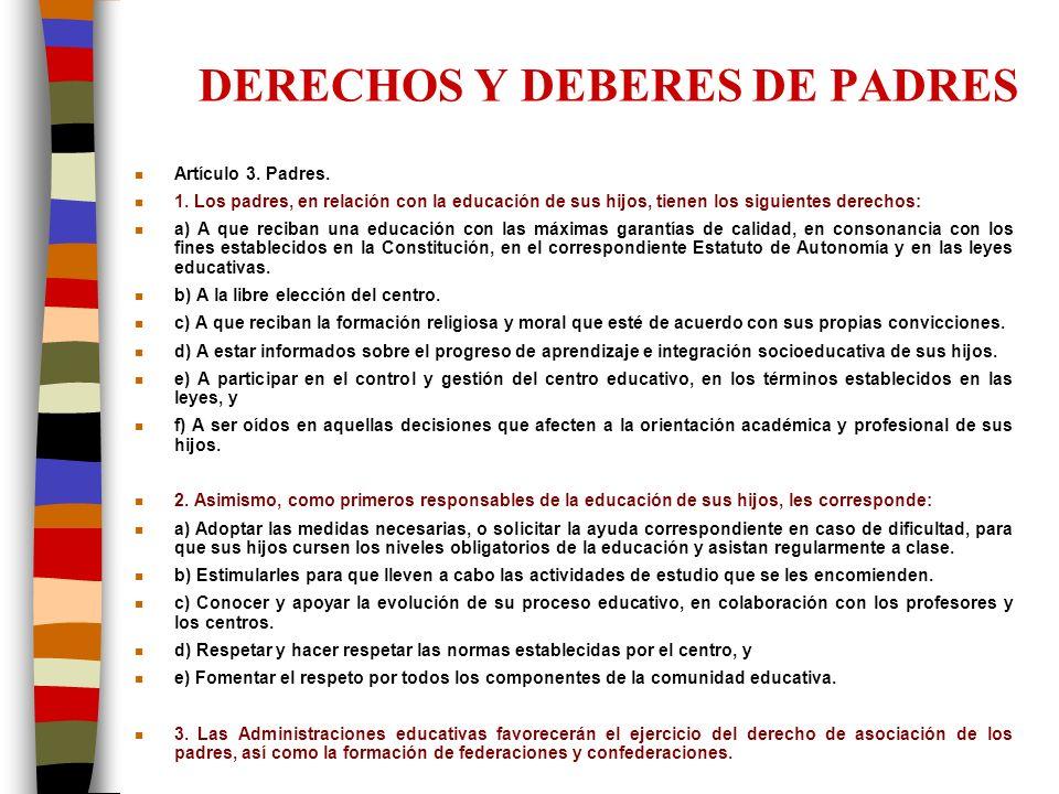 DERECHOS Y DEBERES DE PADRES
