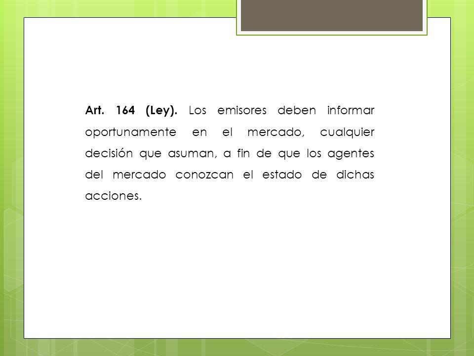 Art. 164 (Ley).