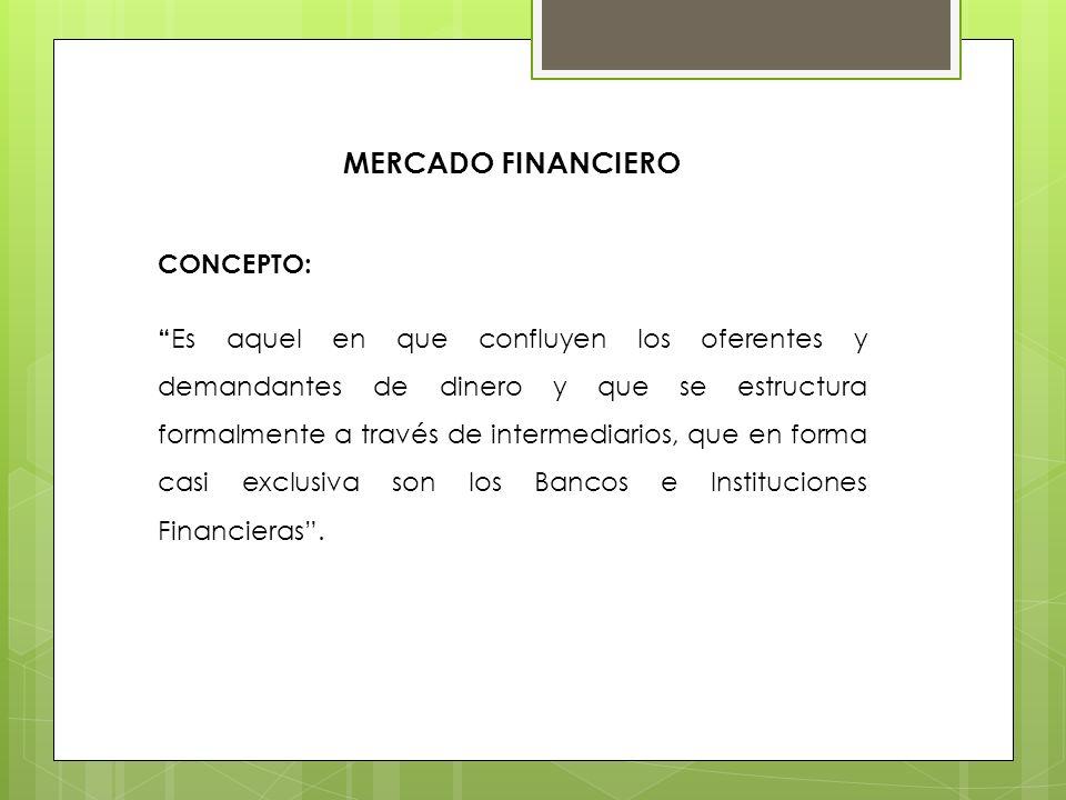 MERCADO FINANCIERO CONCEPTO: