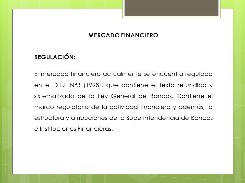 MERCADO FINANCIEROREGULACIÓN: