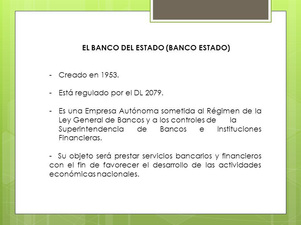EL BANCO DEL ESTADO (BANCO ESTADO)
