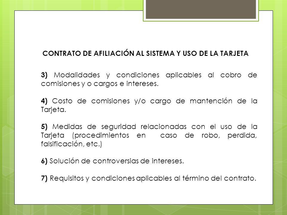CONTRATO DE AFILIACIÓN AL SISTEMA Y USO DE LA TARJETA