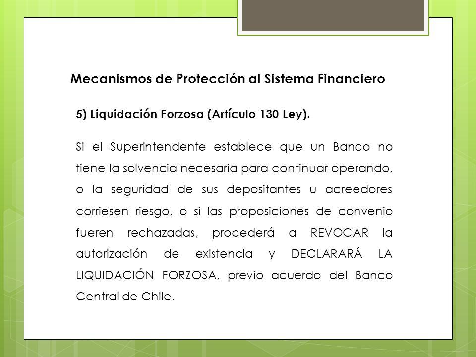 Mecanismos de Protección al Sistema Financiero