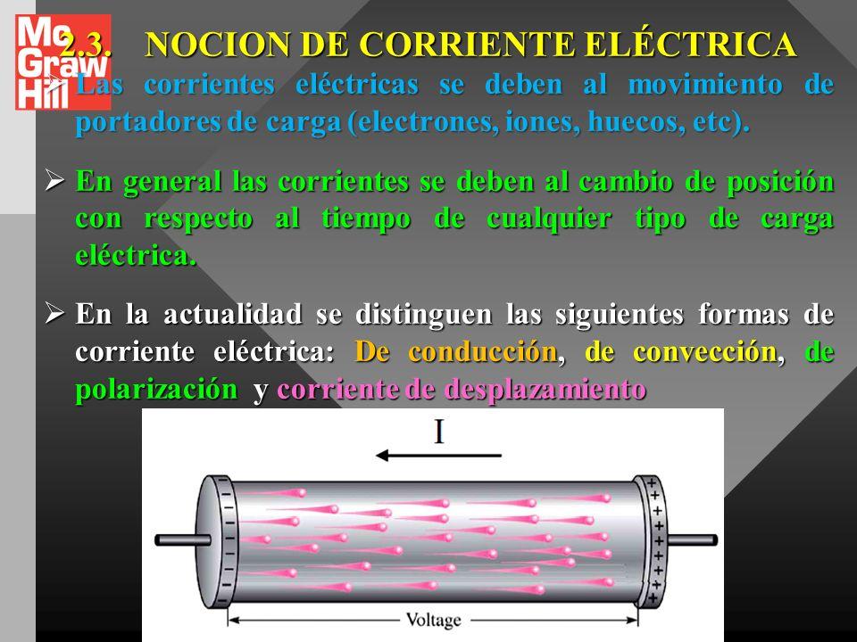 2.3. NOCION DE CORRIENTE ELÉCTRICA