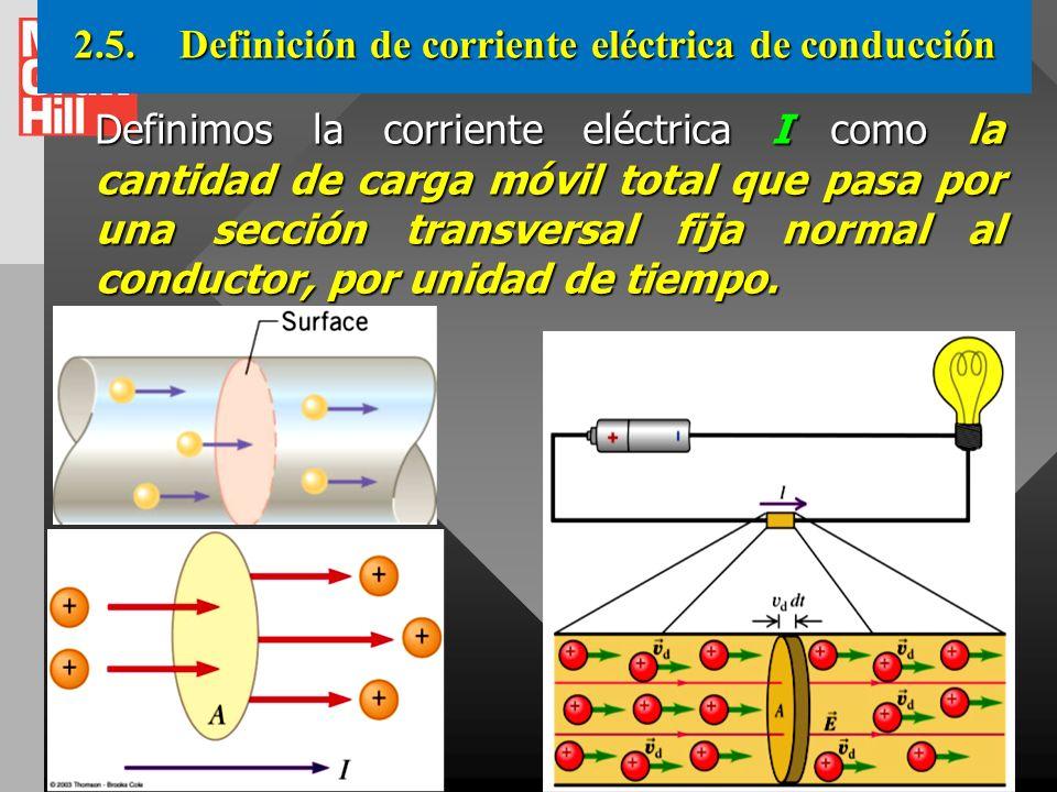 2.5. Definición de corriente eléctrica de conducción
