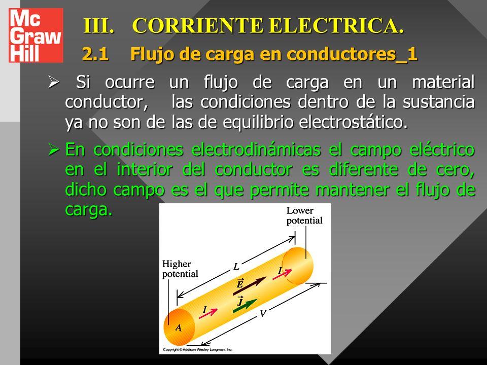 III. CORRIENTE ELECTRICA.