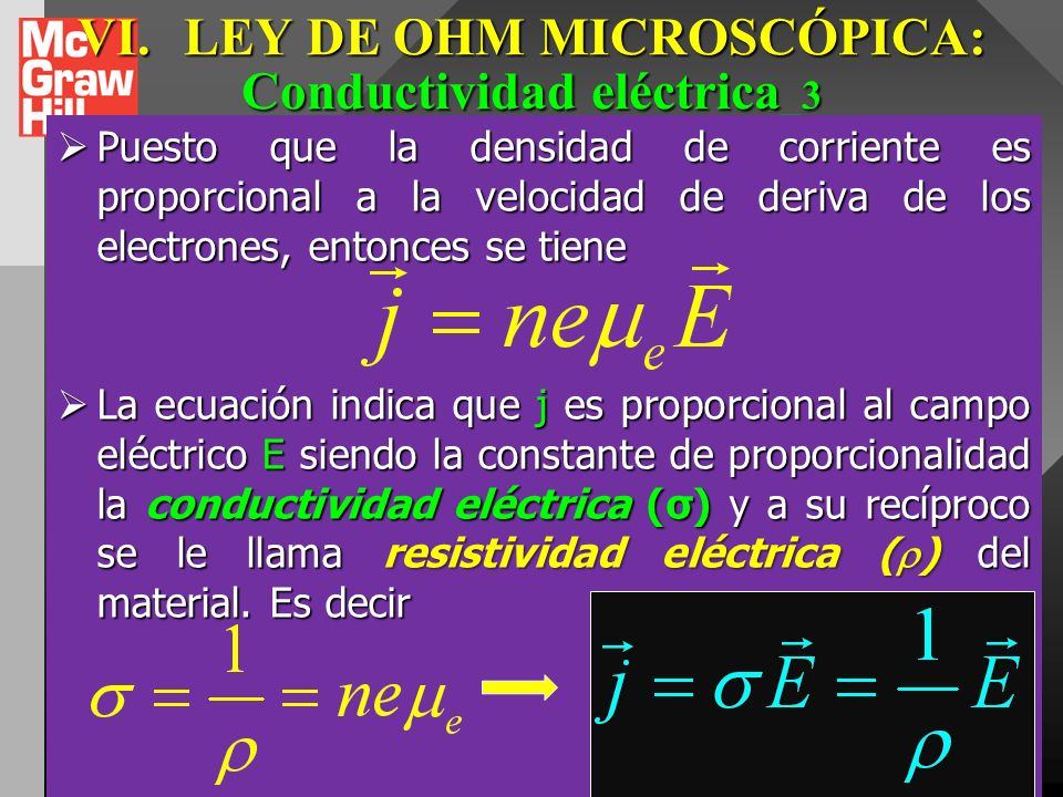 VI. LEY DE OHM MICROSCÓPICA: Conductividad eléctrica_3