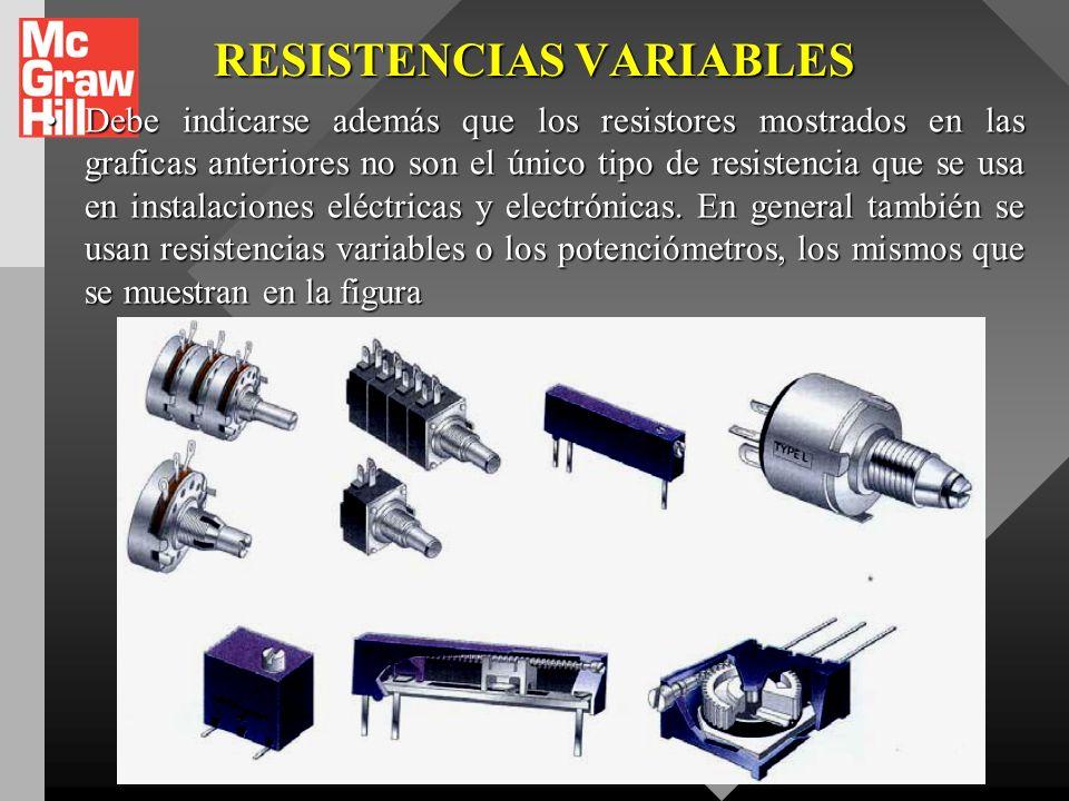 RESISTENCIAS VARIABLES
