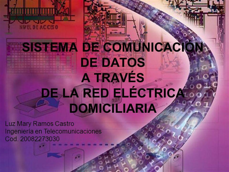 SISTEMA DE COMUNICACIÓN DE DATOS A TRAVÉS DE LA RED ELÉCTRICA DOMICILIARIA