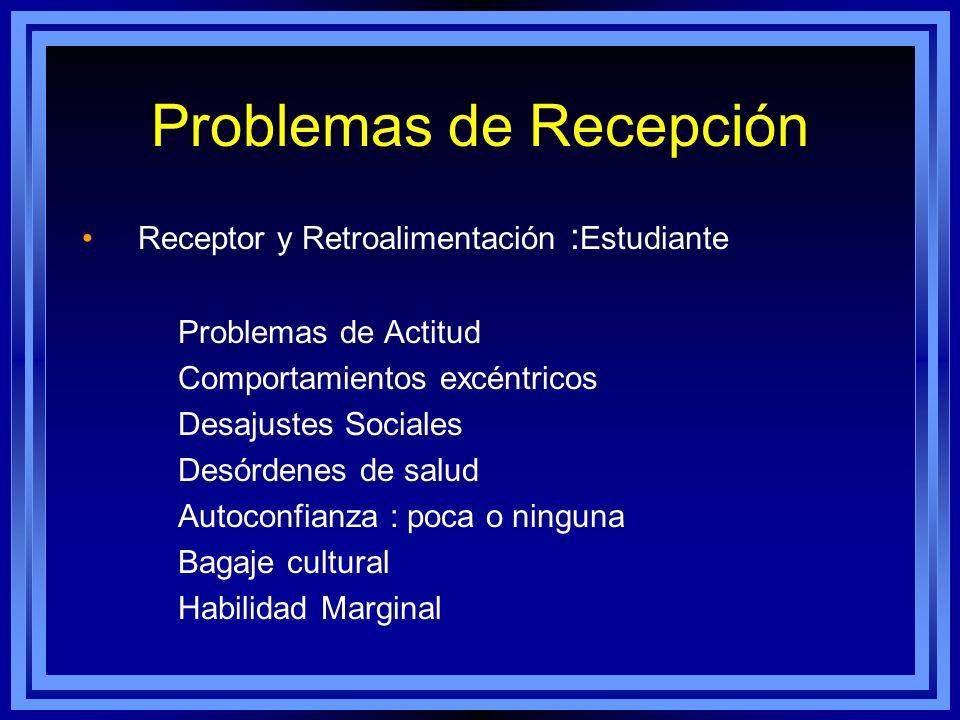 Problemas de Recepción