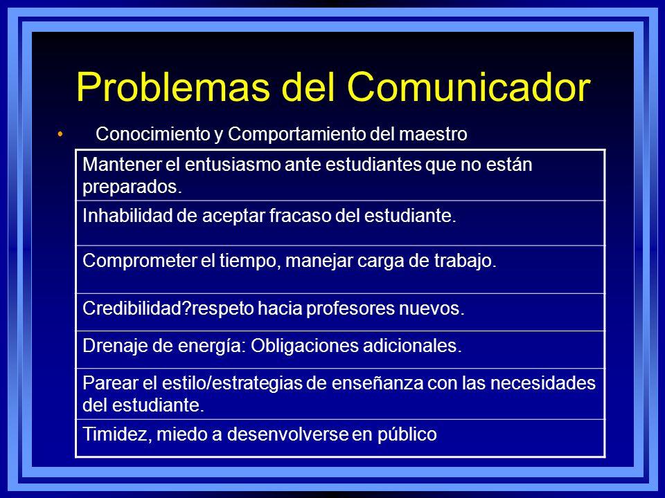Problemas del Comunicador