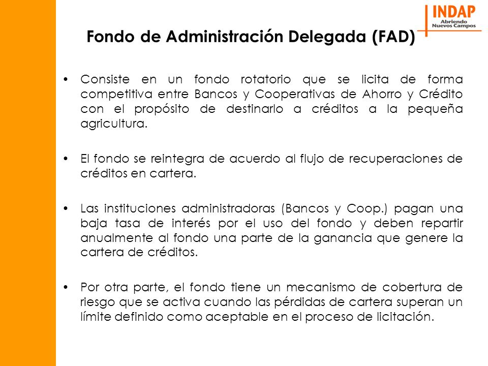 Fondo de Administración Delegada (FAD)