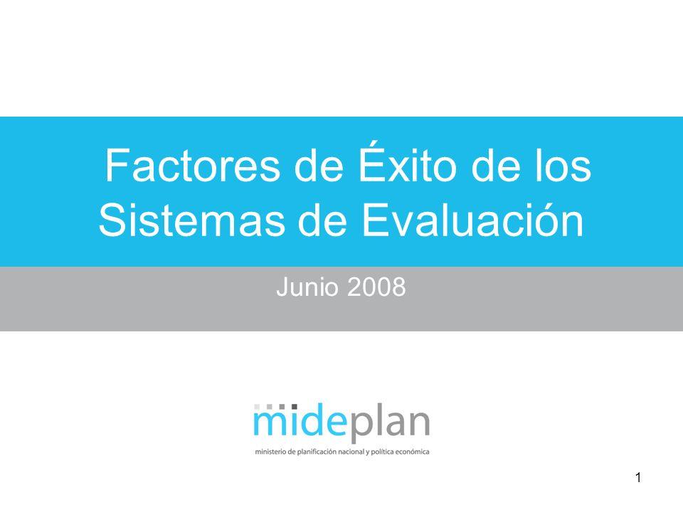 Factores de Éxito de los Sistemas de Evaluación