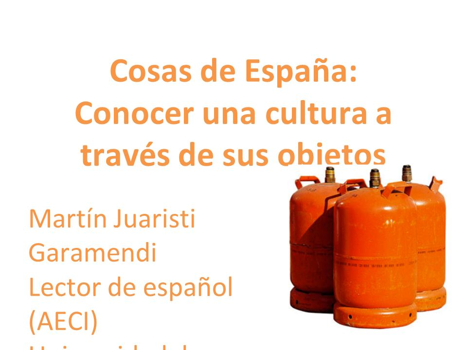Cosas de España: Conocer una cultura a través de sus objetos