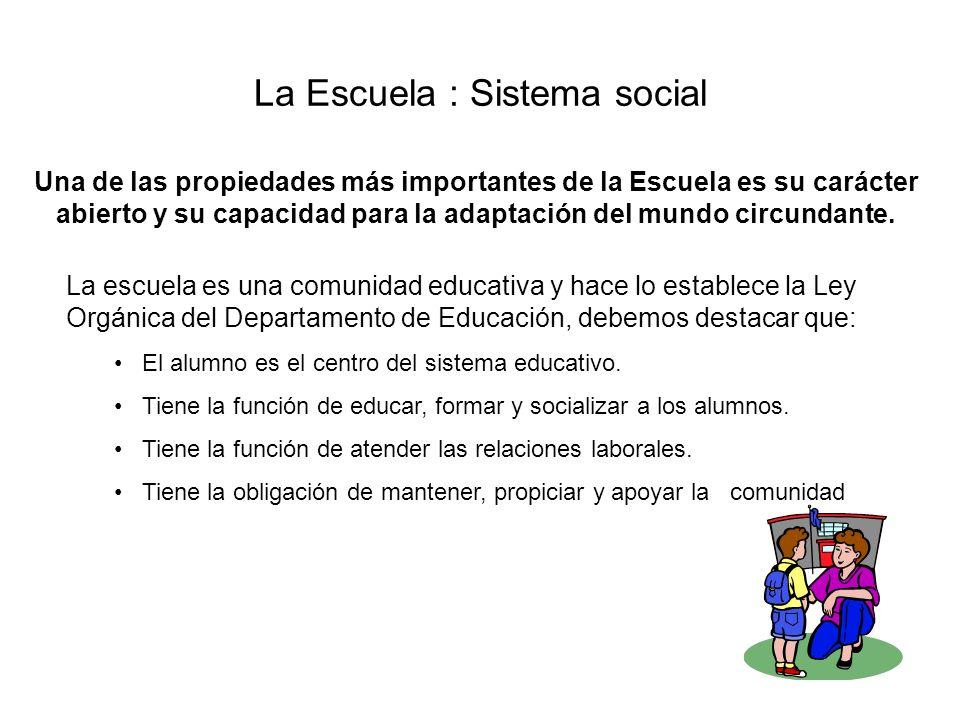 La Escuela : Sistema social