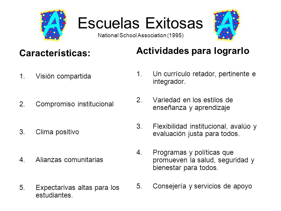 Escuelas Exitosas National School Association (1995)