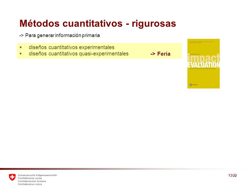 Métodos cuantitativos - rigurosas