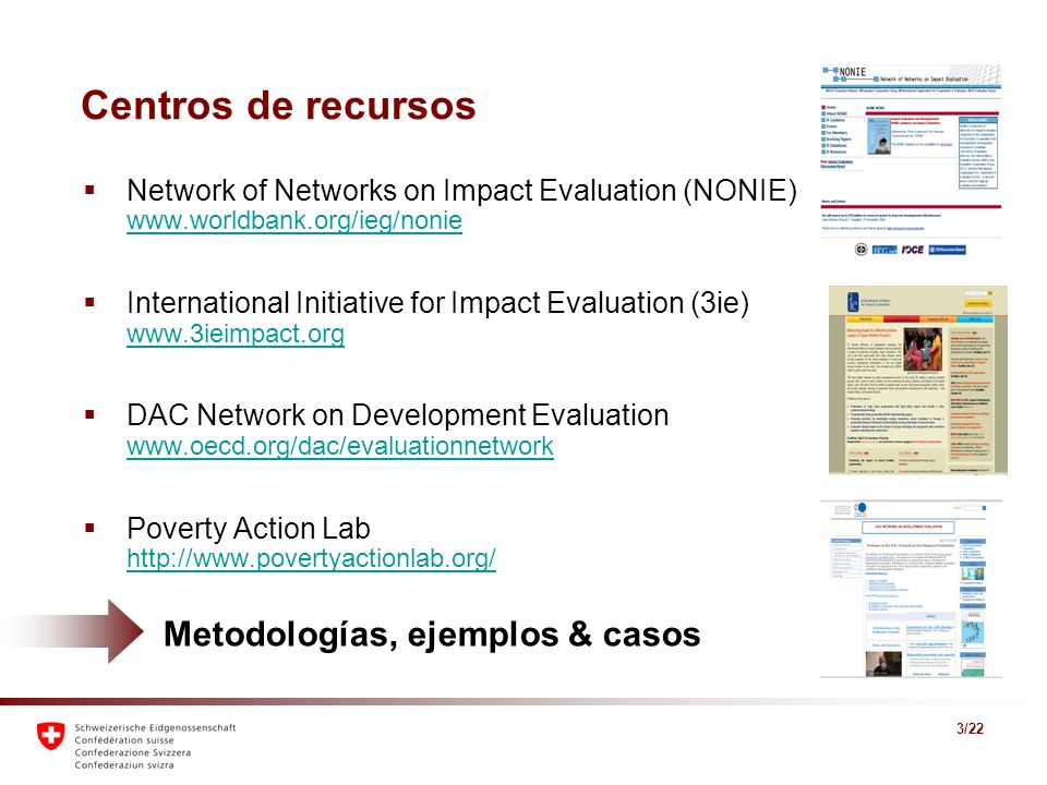 Centros de recursos Metodologías, ejemplos & casos