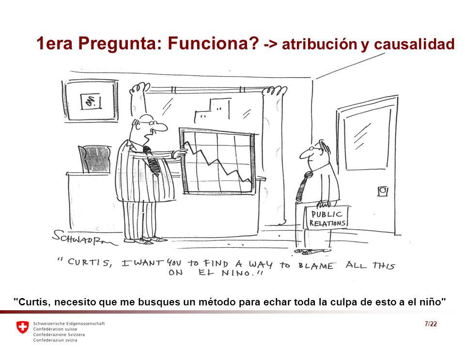 1era Pregunta: Funciona -> atribución y causalidad