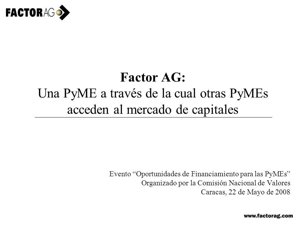 Factor AG: Una PyME a través de la cual otras PyMEs acceden al mercado de capitales