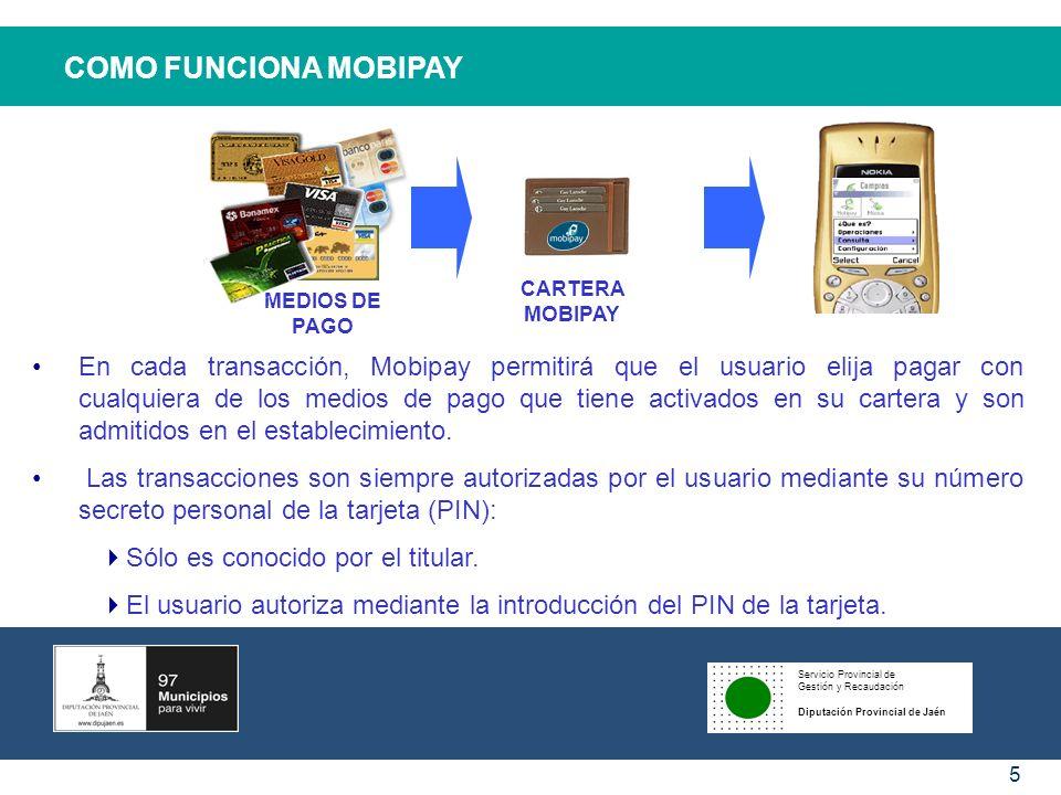 COMO FUNCIONA MOBIPAYCARTERA MOBIPAY. MEDIOS DE PAGO.