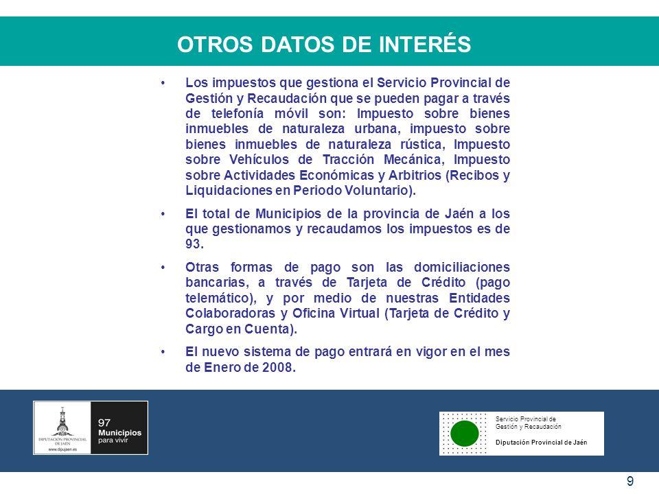 OTROS DATOS DE INTERÉS