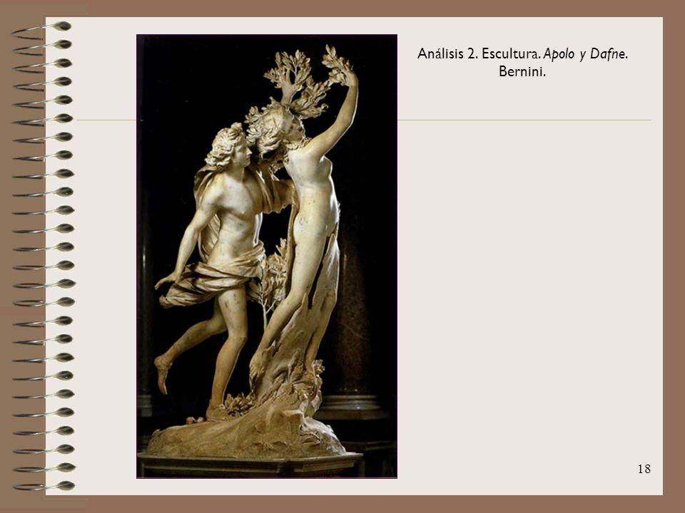 Análisis 2. Escultura. Apolo y Dafne. Bernini.