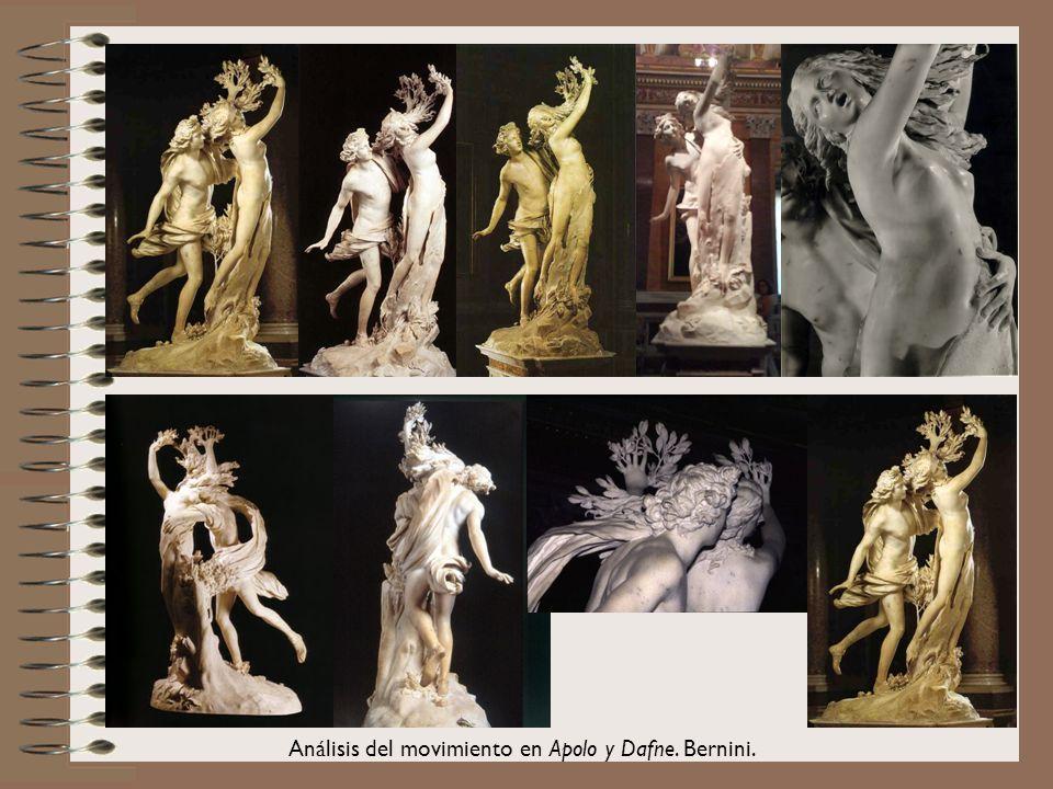Análisis del movimiento en Apolo y Dafne. Bernini.