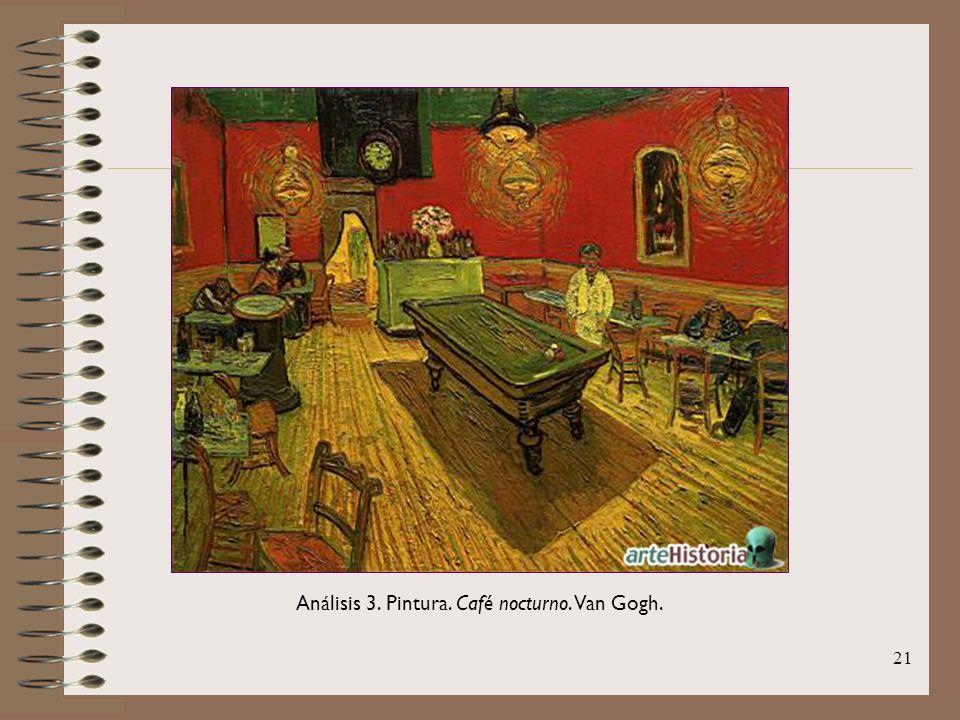 Análisis 3. Pintura. Café nocturno. Van Gogh.