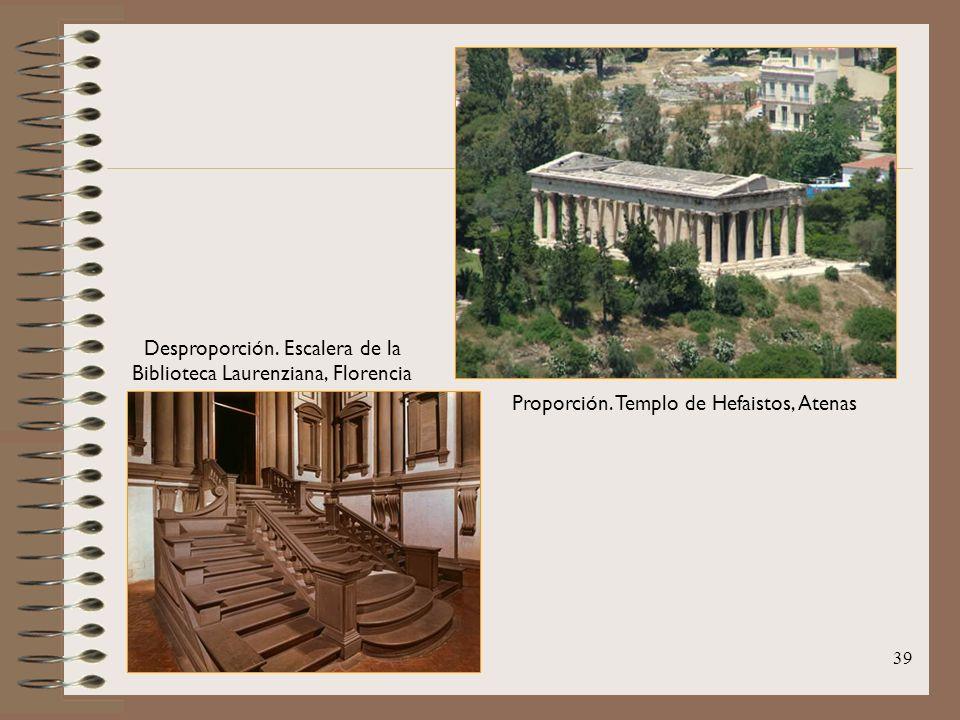 Desproporción. Escalera de la Biblioteca Laurenziana, Florencia
