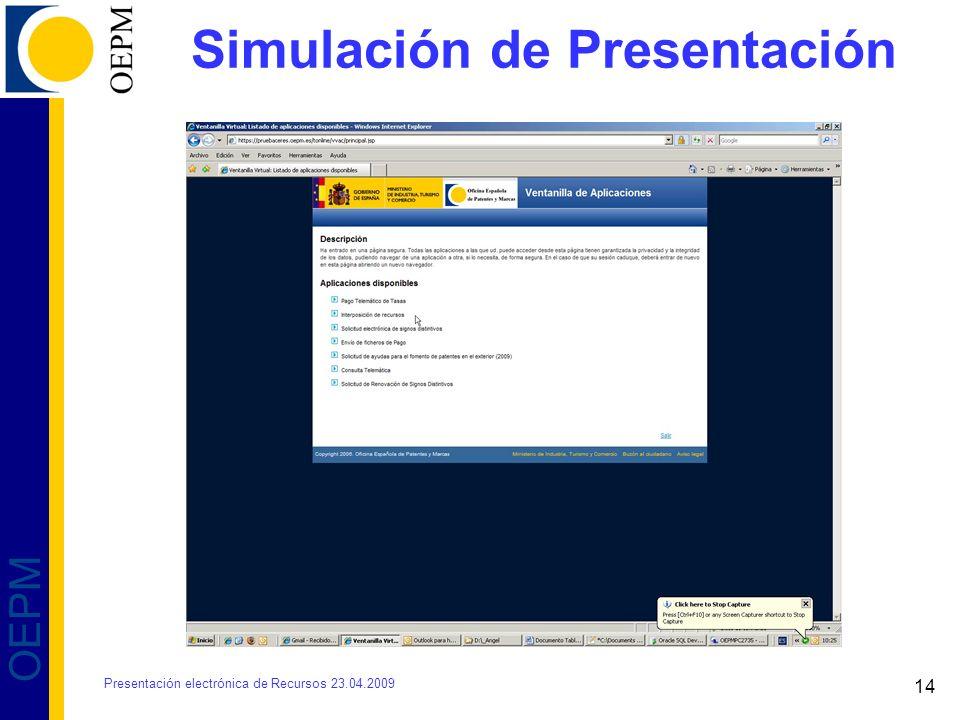 Simulación de Presentación