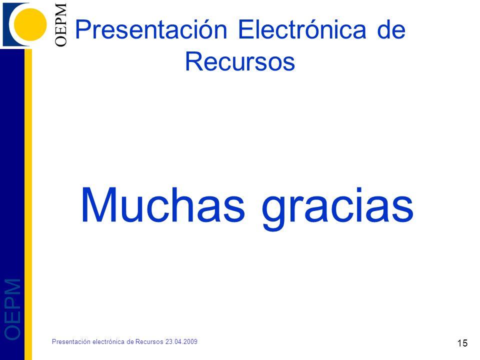 Presentación Electrónica de Recursos