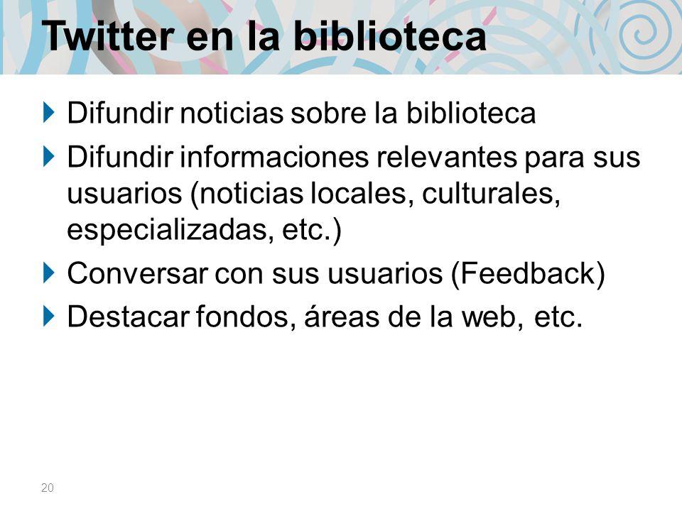 Twitter en la biblioteca